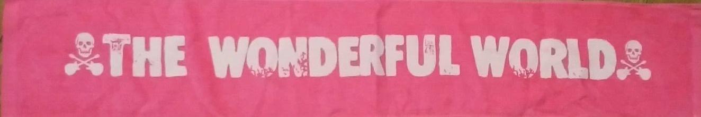 ピンク×ピンクホワイトロゴプリント