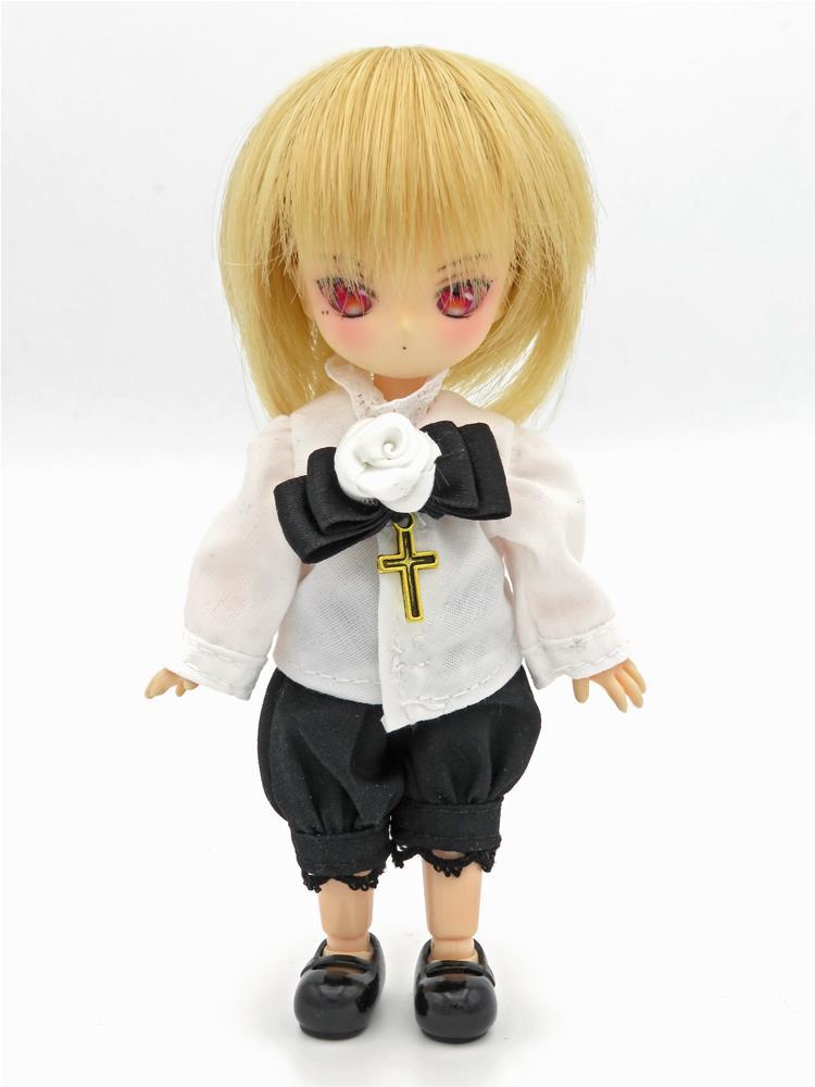 [黒月project] オビツ11 王子服 白バラ