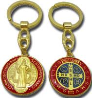 聖ベネディクトのキーホルダー(赤)