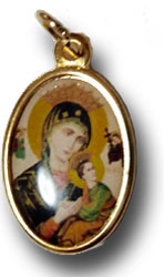 絶えざる御助けの聖母のメダイ