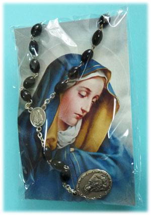 お届け時パッケージ (ご絵の裏には「聖母の7つの悲しみ」がコンパクトに記されています)