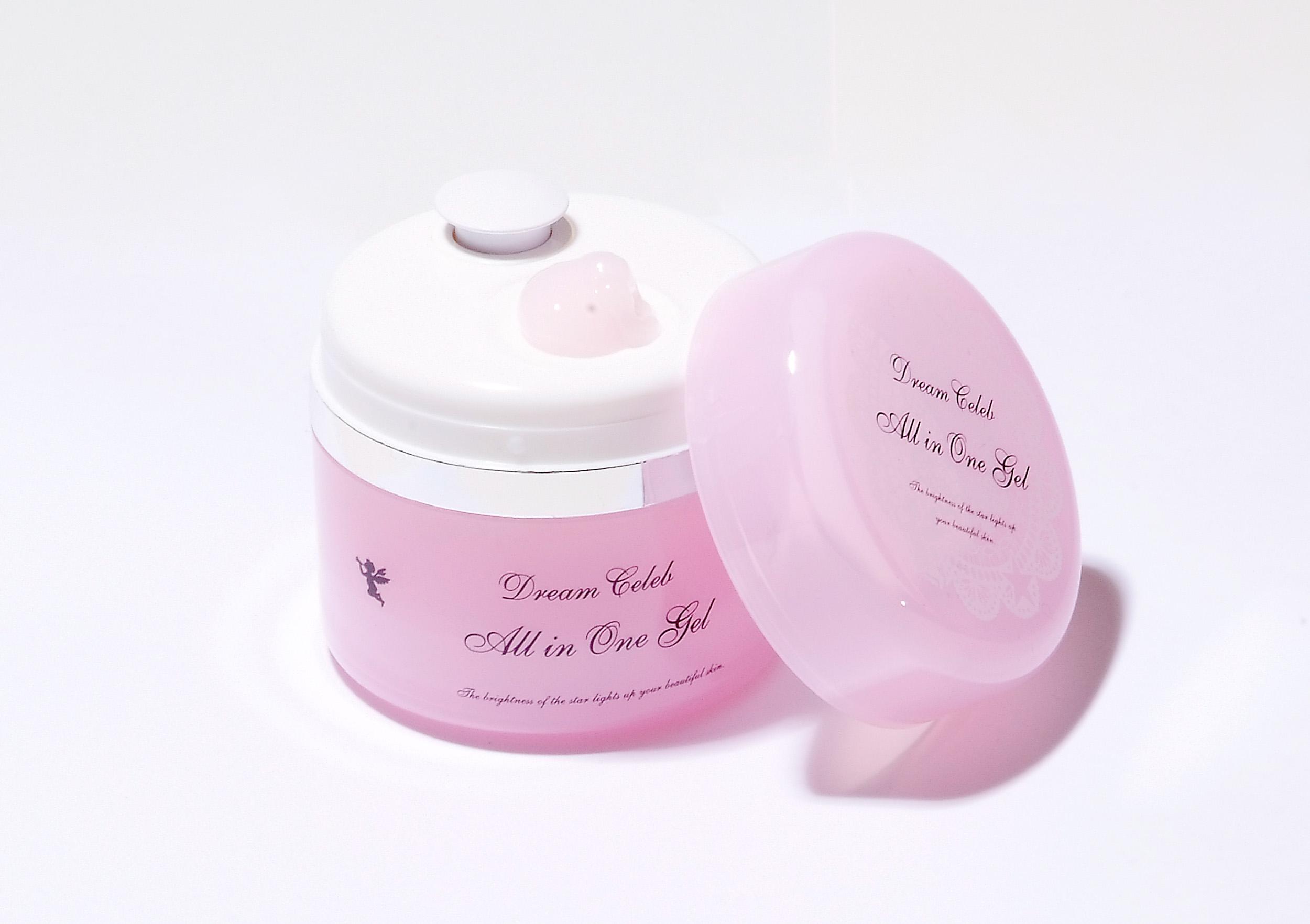 ピンクの可愛らしい色のジェルクリームです。