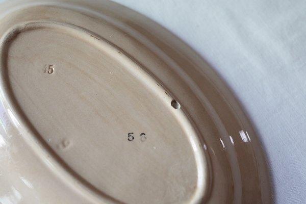 茶色プチオーバルプレートの画像