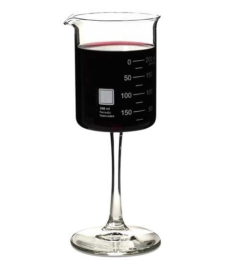 Laboratory Beaker Wine Glass