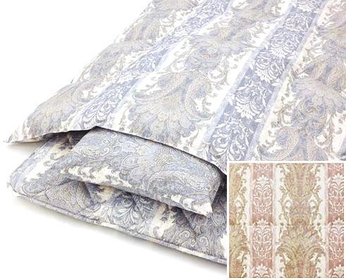 羽毛掛け・羊毛混敷き・枕3点セット