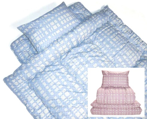 羊毛混掛・敷・枕3点セット カラー:ブルー